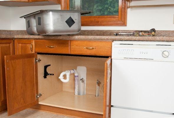 Innovatino plumbing sink installation
